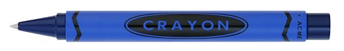 Blue finish - Retractable Rollerball shown