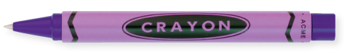 Purple finish - Retractable Rollerball shown