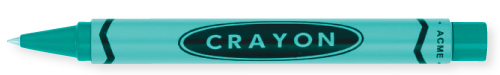 Teal finish - Retractable Rollerball shown