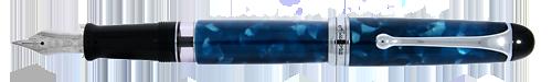 Aurora Limited Editions - 888 Nettuno - Year: 2019 - Blue Marble - Edition: 888 Fountain Pens - Fountain Pen