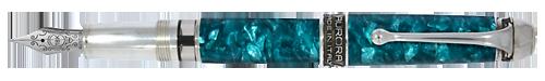 Aurora Limited Editions - Pacific Ocean - Year: 2019 - Aquamarine - Edition: 480 Fountain Pens - Fountain Pen