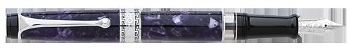 Aurora Limited Editions - Optima Nebulosa - Year: 2018 - Purple with ChromeTrim - Edition: 88 Fountain Pens - Fountain Pen