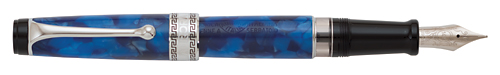 Blue Auroloide/Chrome Trim finish - Fountain Pen shown