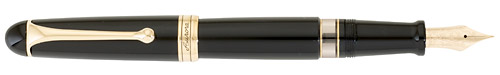 Gold Trim/Black Barrel finish - Large Fountain Pen shown