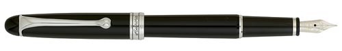 Nikargenta Trim/Black Barrel finish - Medium Fountain Pen shown