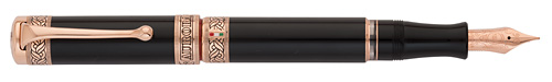 Aurora Limited Editions - Dante's Inferno - Year: 2012 - Black/Rose Gold  - Edition: 1265 Fountain Pens - Fountain Pen