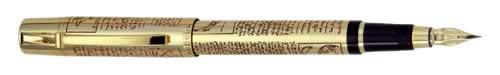 Aurora Limited Editions - Leonardo da Vinci - Year: 2002 - Gold-Plate  - Edition: 1,919 Fountain Pens / 499 Rollerballs - Fountain Pen