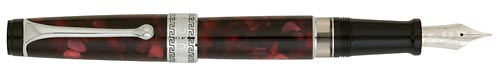 Burgundy Marble/Chrome Trim finish - Fountain Pen   shown
