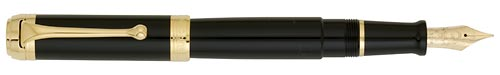 Black with Gold Trim   finish - Fountain Pen shown