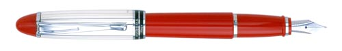 Red & Sterling  finish - Fountain Pen shown