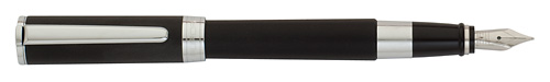 Black Satin/Chrome Trim finish - Fountain Pen shown