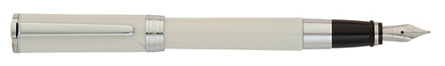 Ivory/Chrome Trim finish - Fountain Pen  shown