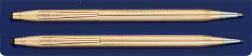 Cross Century 12kt. Gold-Filled Ball Pen & Pencil Set - 0.7mm Lead - Made In USA