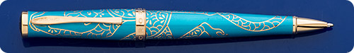 Cross Year Of The Monkey Teal Ball Pen - Gold Plated Trim - Twist Action