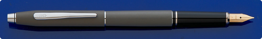 Cross Century Matte Gray Fountain Pen - Chrome Trim - Cartridge/Converter Fill - Converter Included