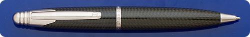 Dunhill - A Fabulous Modern Classic - AD2000 Carbon Fiber Ball Pen - Very Deco! - Twist Action