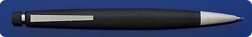 Lamy 2000 Mechanical Pencil 0.7mm Lead - Black Makrolon - Button Top Activated