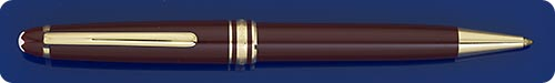 Montblanc Classique #164 Burgundy Ball Pen - Twist Action - Gold Plated Trim - Color Is No Longer Produced - Light Scratches On Cap & Clip