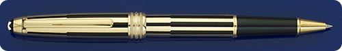 Montblanc Solitaire Gold And Black Stripe Rollerball  - Light Surface Scratches