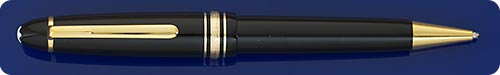 Montblanc Meisterstuck Black LeGrand Ball Pen - Gold Plated Trim