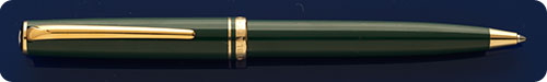 Montblanc Generation Green Ball Pen - Gold Plated Trim - Twist Action - Light Surface Wear Overall - A Presentable User