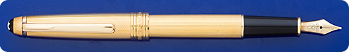 Montblanc Gold-Plated Barleycorn Meisterstuck Classique #144 Fountain Pen - Cartridge/Converter Fill - Converter Included