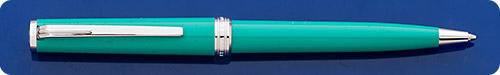 Montblanc Pix Emerald Green Ball Pen  - Chrome Trim - Twist Activated
