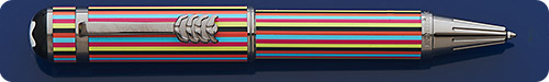 Montblanc The Beatles (Great Characters) Large Ballpoint Pen - Multi-Colored Stripes - Twist Activated