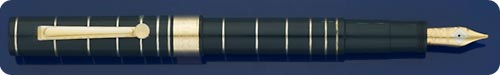 Omas Dark Blue Marconi Fountain Pen Limited Edition - Rings On Body Represent Radio Waves - Piston Fill - #1256 Of 5,000