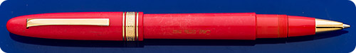 Omas Ogiva Extra Rollerball - Coral Finish/Gold Plated Trim - Accepts Schmidt Short Capless Refills