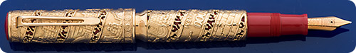 Omas Jerusalem 3000 Limited Edition  18kt Gold Fountain Pen - Piston Fill - #232 Of 500