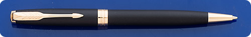 Parker Sonnet Black Matte Ball Pen - Gold Plated Trim - Twist Activated