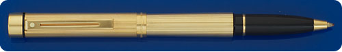 Sheaffer Targa Gold Plated Rollerball - Vertical Fluted Lines
