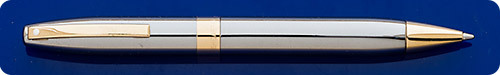 Sheaffer Legacy Ball Pen - Palladium Plated Body/Gold Plated Trim - Twist Activated
