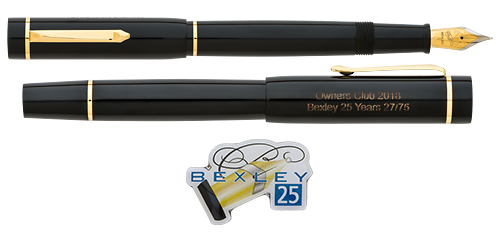Bexley Limited Editions - Owners Club - 25th Anniversary - Year: 2018 - Black - Edition: 75 Fountain Pens - Fountain Pen