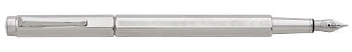 Palladium Plated Chevron finish - Fountain Pen shown