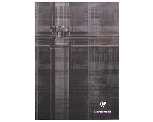 Black 8 1/4 x 11 3/4 in.  192 Pages finish - Hardcover Notebook shown