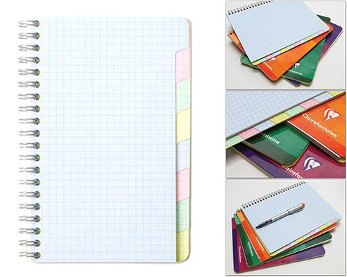 Multi-Subject Graph 4 1/4 in. x 6 3/4 in. 48 Sheets/96 Pages finish - Wirebound Notebook w/8 Tabs-Cover Color Randomly Selected shown