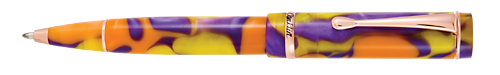 Conklin Limited Editions - Duraflex Endless Summer - Year: 2019 - Orange & Purple  - Edition: 898 Ball Pens - Ball Pen