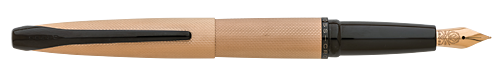 Brushed Rose Gold    finish - Fountain Pen shown