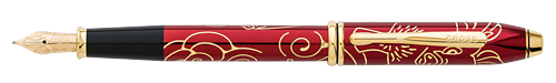 Red finish - Fountain Pen (18kt Gold Nib) shown