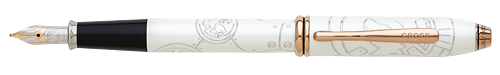 Cross Limited Editions - BB-8 - Year: 2016 - White - Edition: 1977 Pens - Fountain Pen   (18kt Gold Nib)