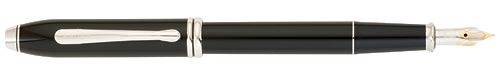 Black Lacquer - Rhodium Trim finish - Fountain Pen(18 kt Gold Nib) shown