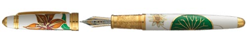 White/Gold finish - Fountain Pen shown
