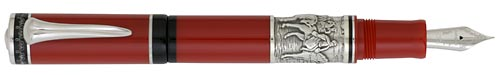 Delta Limited Editions - Garibaldi - Year: 2008 - Red/Silver Trim   - Special Limited Edition  Fountain Pen