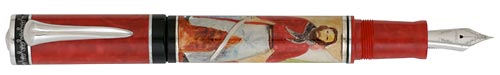 Delta Limited Editions - Garibaldi - Year: 2008 - Red/Silver Trim    - Limited Edition  Fountain Pen