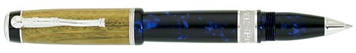 Delta Limited Editions - Amerigo Vespucci - Year: 2009 - Wood/Sterling Silver/Blue Resin - Edition: 931 Pens - Rollerball