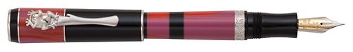 Delta Limited Editions - Bribri - Year: 2014 - Black/Red/Rhodium Trim - Edition: 977 Pens - Fountain Pen Piston Fill