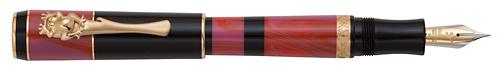 Delta Limited Editions - Bribri - Year: 2014 - Black/Red/Gold Trim - Edition: 977 Pens - Fountain Pen Piston Fill