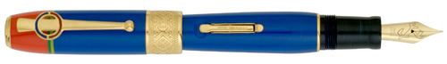 Delta Limited Editions - Sami Special Edition - Year: 2008 - Blue/Vermeil Trim - Edition: 963 Pens - Fountain Pen